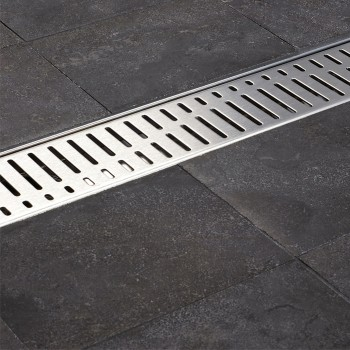Решетка для трапа ACO ShowerDrain C-line 885 мм (408559) волна
