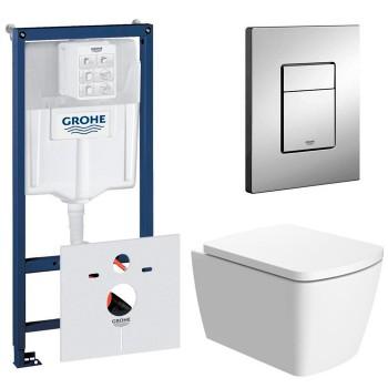 Система инсталляции Grohe (38772001) с подвесным унитазом Devit COUNTRY 2.0 (3020125)