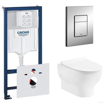 Система инсталляции Grohe (38772001) с подвесным унитазом Devit FRESH (3120121)