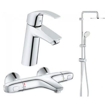 Набор смесителей для ванны Grohe Eurosmart (34102TS)