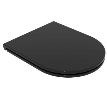 Сиденье для унитаза GSG Like Slim (LKCOPRSLTICR002) черный глянец